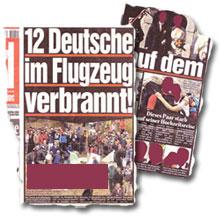 """""""12 Deutsche im Flugzeug verbrannt!"""""""