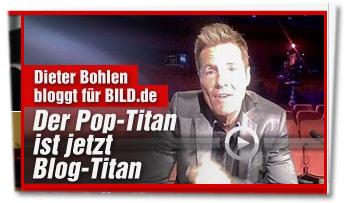 """""""Dieter Bohlen bloggt für Bild.de: Der Pop-Titan ist jetzt Blog-Titan"""""""
