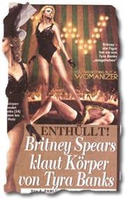 """""""Enthüllt! Britney Spears klaut Körper von Tyra Banks"""""""