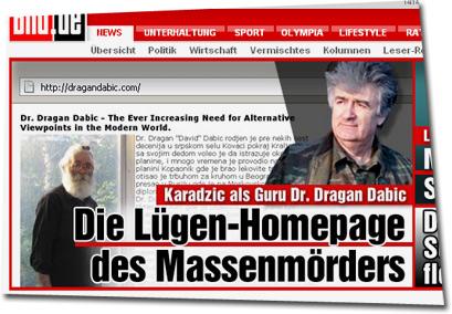 """""""http://dragandabic.com Karadzic als Guru Dr. Dragan Dabic / Die Lügen-Homepage des Massenmörders"""""""