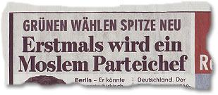 """""""Erstmals wird ein Moslem Parteichef"""""""