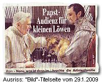 """""""Papst-Audienz für kleinen Löwen"""""""