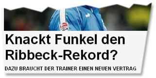"""Knackt Funkel den Ribbeck-Rekord?"""