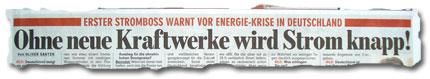 """""""Erster Stromboss warnt vor Energie-Krise in Deutschland: Ohne neue Kraftwerke wird Strom knapp!"""""""