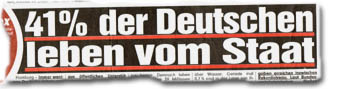 """""""41 % der Deutschen leben vom Staat"""""""