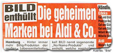 """""""BILD enthüllt: Die geheimen Marken bei Aldi & Co"""""""