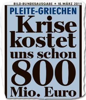 Pleite-Griechen: Krise kostet uns schon 800 Mio. Euro