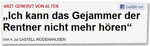 """Arzt genervt von Alten: """"Ich kann das Gejammer der Rentner nicht mehr hören"""""""