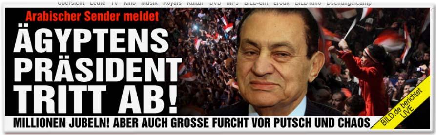 Ägyptens Präsident tritt ab!