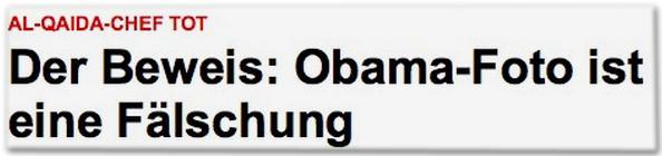 Obama-Foto ist eine Fälschung