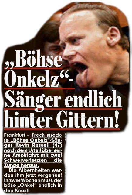 """Böhse Onkelz""-Sänger endlich hinter Gittern"
