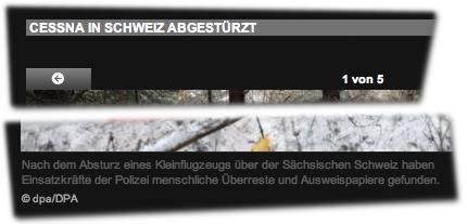 CESSNA IN SCHWEIZ ABGESTÜRZT: Nach dem Absturz eines Kleinflugzeugs über der Sächsischen Schweiz haben Einsatzkräfte der Polizei menschliche Überreste und Ausweispapiere gefunden.