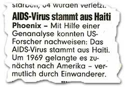 """""""AIDS-Virus stammt aus Haiti"""""""