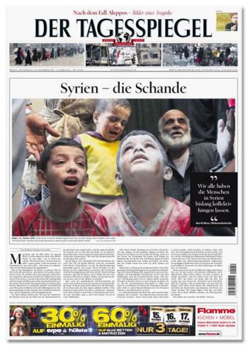 Titelseite Tagesspiegel