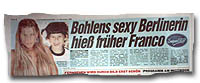 """""""Bohlens sexy Berlinerin hieß früher Franco"""""""
