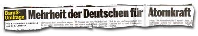 """""""Mehrheit der Deutschen für Atomkraft"""