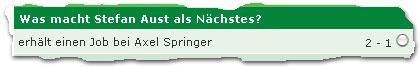 """""""erhält einen Job bei Axel Springer: 2-1"""""""