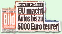 """""""Neuer Preis-Schock! EU macht Autos bis zu 5000 Euro teurer"""""""
