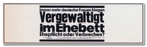 Immer mehr deutsche Frauen klagen - Vergewaltigt im Ehebett - Ehepflicht oder Verbrechen?