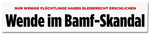 Screenshot Bild.de - Nur wenige Flüchtlinge haben Bleiberecht erschlichen - Wende im Bamf-Skandal