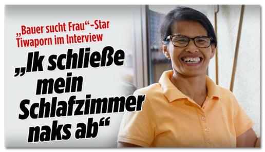 Screenshot Bild.de - Bauer-sucht-Frau-Star Tiwaporn im Interview - Ik schließe mein Schlafzimmer naks ab