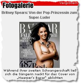 Während ihrer zweiten Schwangerschaft ließ sich die Sängerin nackt für das Cover von 'Haarper's Bazar' ablichten