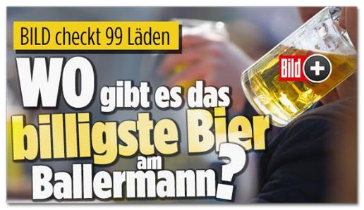 Screenshot Bild.de - Bild checkt 99 Läden - Wo gibt es das billigste Bier am Ballermann?
