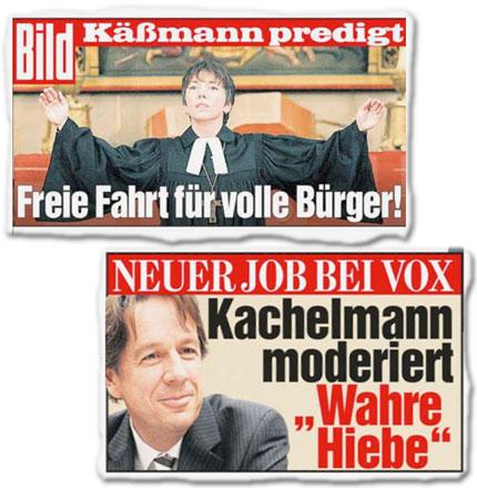 """Käßmann predigt: Freie Fahrt für volle Bürger, Neuer Job bei Vox: Kachelmann moderiert """"Wahre Hiebe"""""""