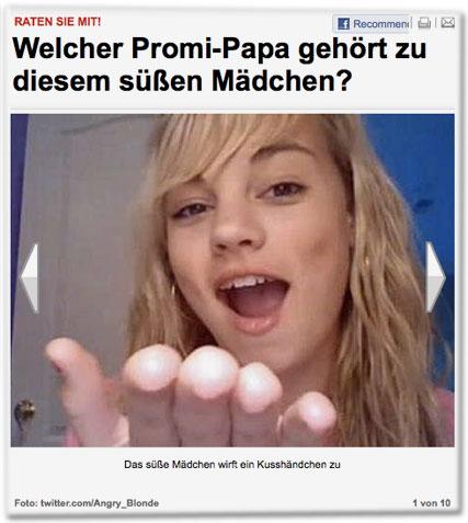 Welcher Promi-Papa gehört zu diesem süßen Mädchen?