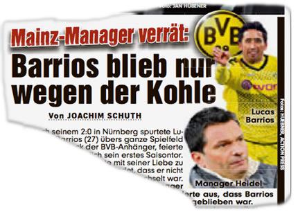Mainz-Manager verrät: Barrios blieb nur wegen der Kohle