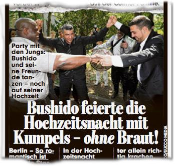 Bushido feierte die Hochzeitsnacht mit Kumpels — ohne Braut
