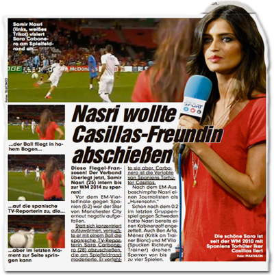 Nasri wollte Casillas-Freundin abschießen