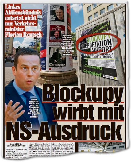 Blockupy wirbt mit NS-Ausdruck