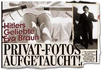 Hitlers Geliebte Eva Braun: Privat-Fotos aufgetaucht! Sie verkleidete sich gerne: Eva Braun imitiert den farbigen amerikanischen Jazz-Sänger Al Jolson (1937).