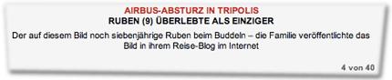 Der auf diesem Bild noch siebenjährige Ruben beim Buddeln – die Familie veröffentlichte das Bild in ihrem Reise-Blog im Internet