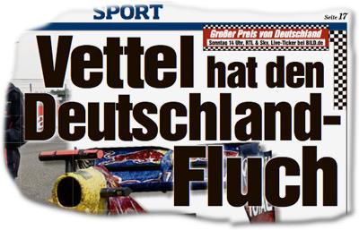 Vettel hat den Deutschland-Fluch!