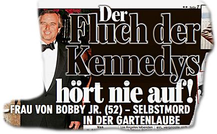 Der Fluch der Kennedys hört nie auf! FRAU VON BOBBY JR. (52) - SELBSTMORD IN DER GARTENLAUBE