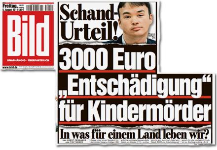 """3000 Euro Entschädigung für Magnus Gäfgen 3000 Euro """"Entschädigung"""" für Kindermörder. In was für einem Land leben wir?"""