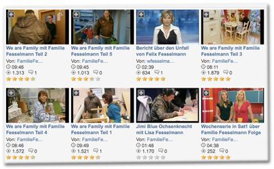 Videos von und mit Familie Fesselmann bei MyVideo.de