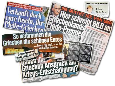 """""""Bild"""" schlagzeilt auf die """"Pleite-Griechen"""" ein"""