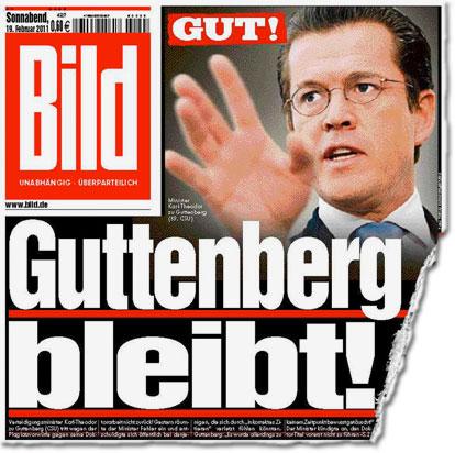 Gut! Guttenberg bleibt!