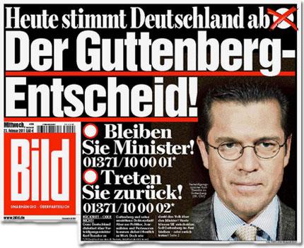 Heute stimmt Deutschland ab: Der Guttenberg-Entscheid!