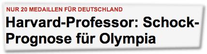 Nur 20 Medaillen für Deutschland - Harvard-Professor: Schock-Prognose für Olympia