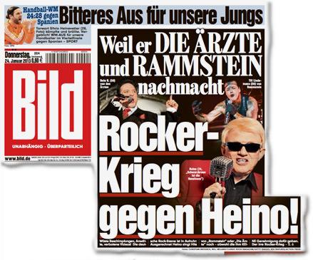 """Weil er DIE ÄRZTE und RAMMSTEIN nachmacht: Rocker-Krieg gegen Heino! Deutsche Rocker sauer auf Volksmusik-Star Heino: """"Ich lasse mir von niemandem das Singen verbieten"""""""