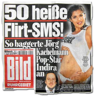 50 heiße Flirt-SMS: So baggerte Jörg Kachelmann Popstar Indira an
