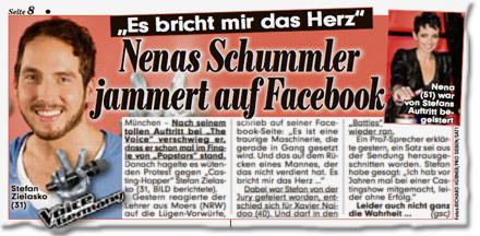 """""""Es bricht mir das Herz"""": Nenas Schummler jammert auf Facebook"""