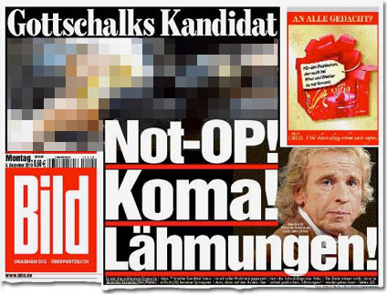 Gottschalks Kandidat: Not-OP! Koma! Lähmungen!