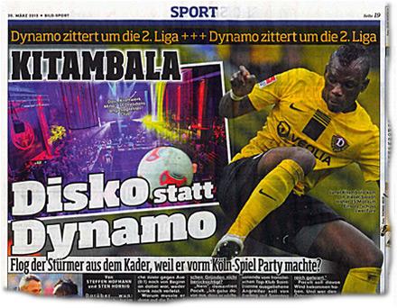 Disko statt Dynamo — Flog der Stürmer aus dem Kader, weil er vorm Köln-Spiel Party machte?