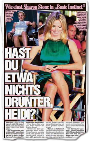 Hast Du etwa nichts drunter, Heidi?