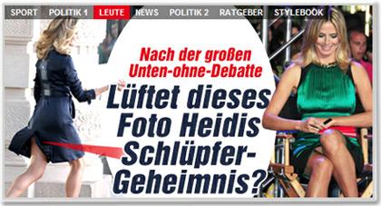 Lüftet dieses Foto Heidis Schlüpfer-Geheimnis?